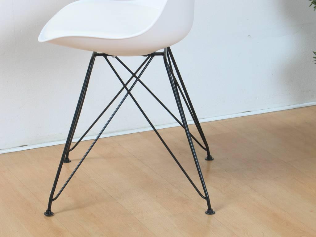 Witte design bureaustoel verrijdbare bureaustoel wit assemblee