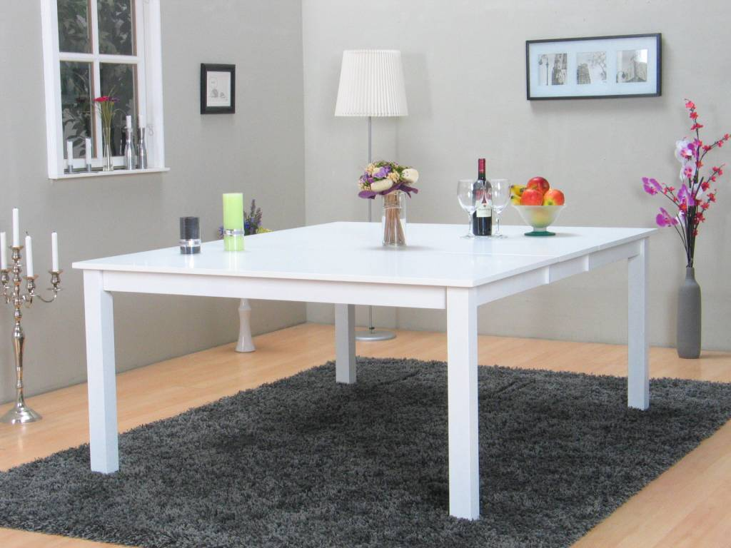 Eetkamertafel Vierkant Wit : Vierkante eettafel hoogglans wit brouwerijdehogestins