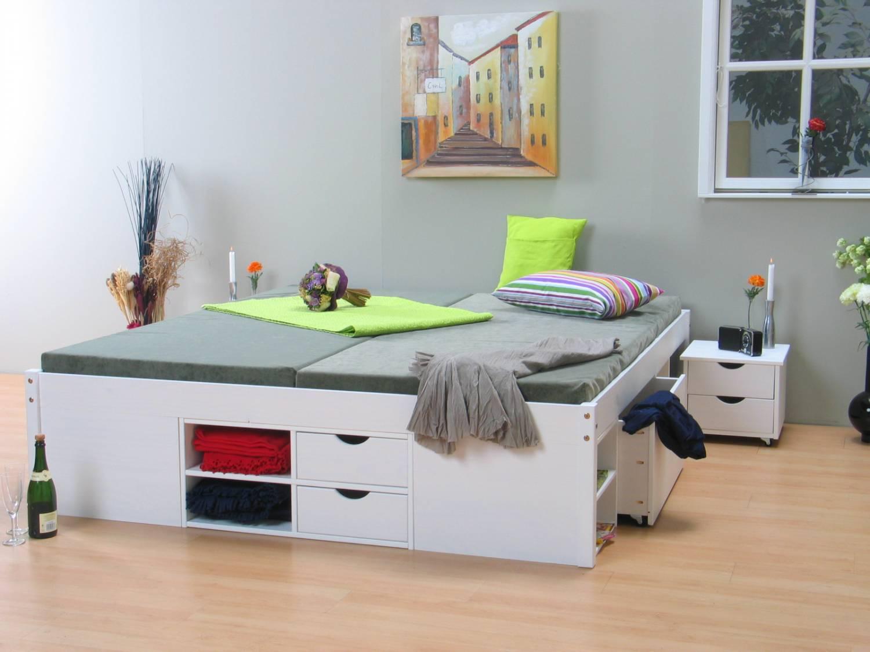 Tweepersoonsbed met opbergruimte till wit 180x200 meubeltrefpunt altijd thuis - Tiener met opbergruimte ...