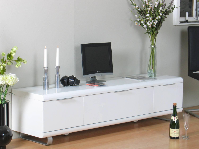 Tv meubel wit hoogglans boston met laden en klep   meubeltrefpunt ...