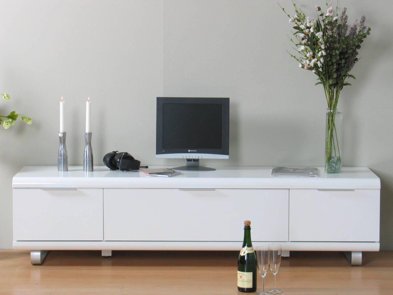 TV meubel wit hoogglans Boston met laden en klep - Meubeltrefpunt ...