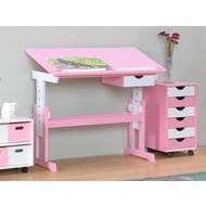 Bureau Cecilia roze wit ABC kleuters tekentafel
