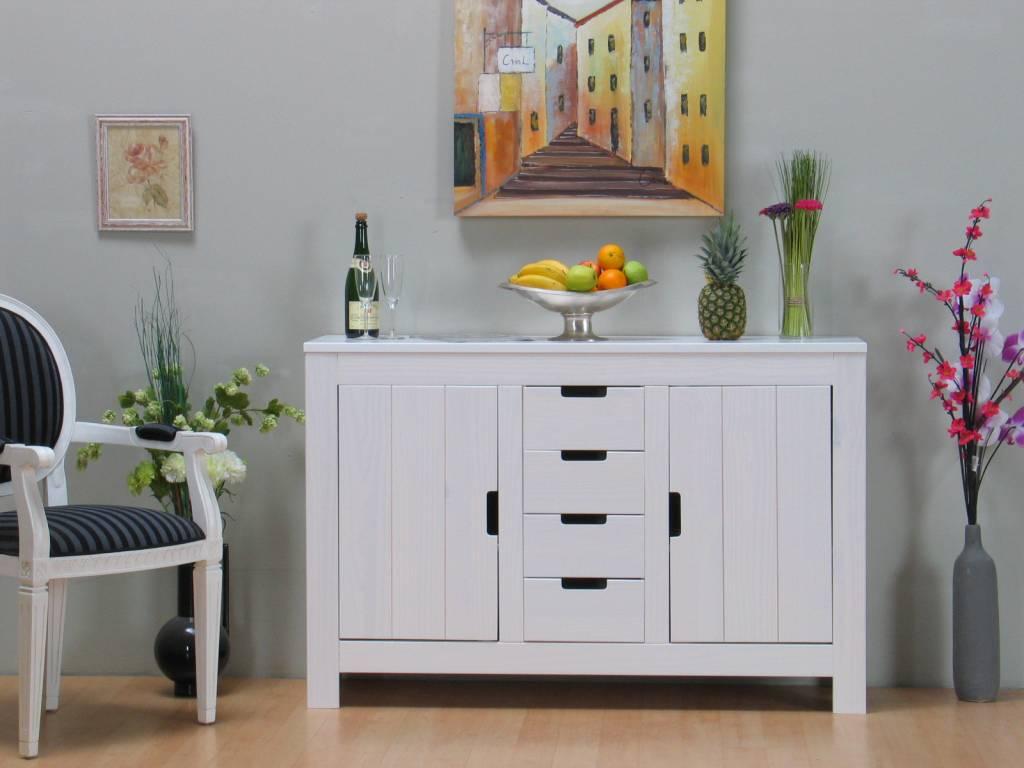 Witte Ladenkast Slaapkamer : ... wit grenen sideboard ladenkast ...
