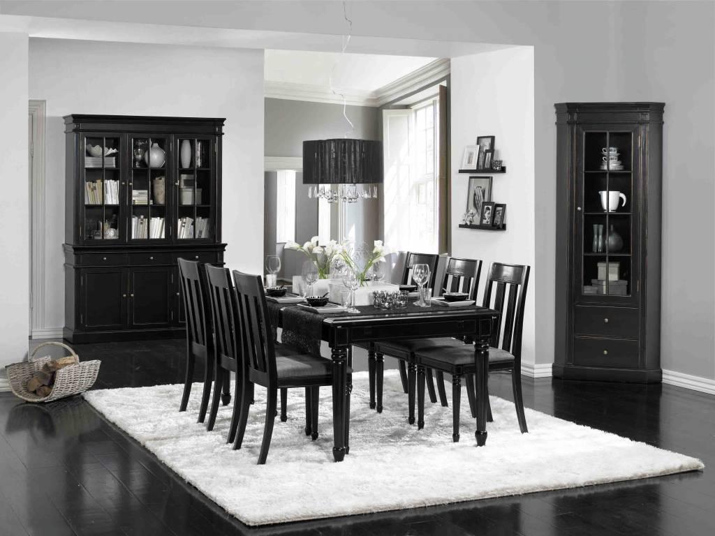 Eethoek Stoelen : Home eethoek met stoelen mozart zwart antiek barok ...