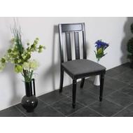 Eetkamerstoel Mozart zwarte stoel antiek patiné