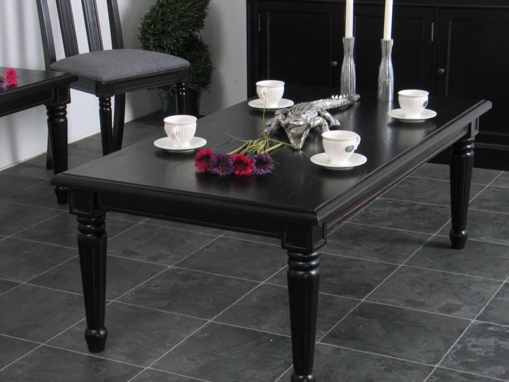 Salontafel mozart langwerpig 135x75 cm zwart antiek barok ...