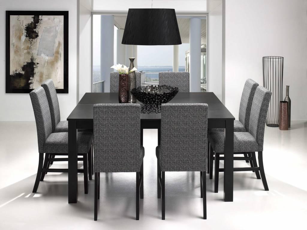 Eettafel Met 8 Stoelen Sirius Vierkant Zwart Eethoek Meubeltrefpunt ...