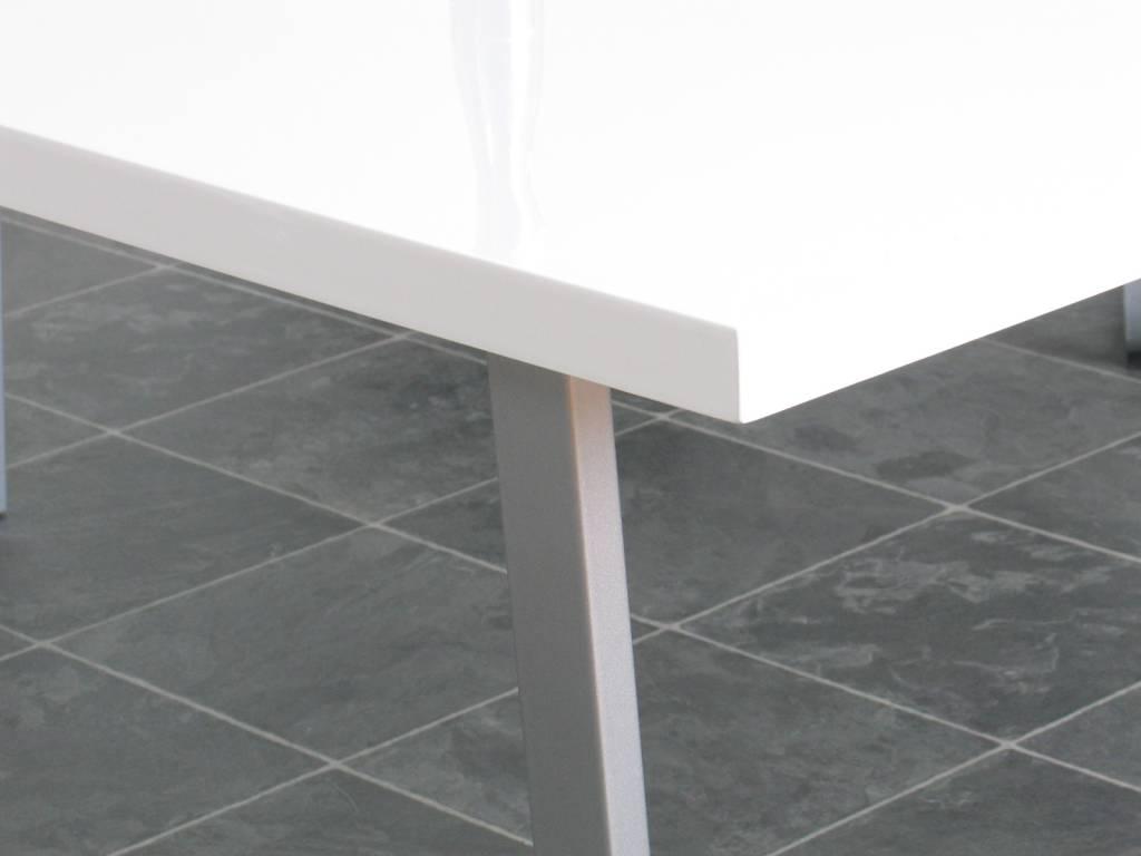 Tafel Toronto wit hoogglans design metaal MDF - Meubeltrefpunt ...