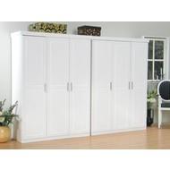 Oslo witte kleerkast 6 deurs bestaande uit 2x3 drs kast