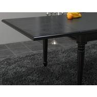 Mozart zwart verlengstuk tafel