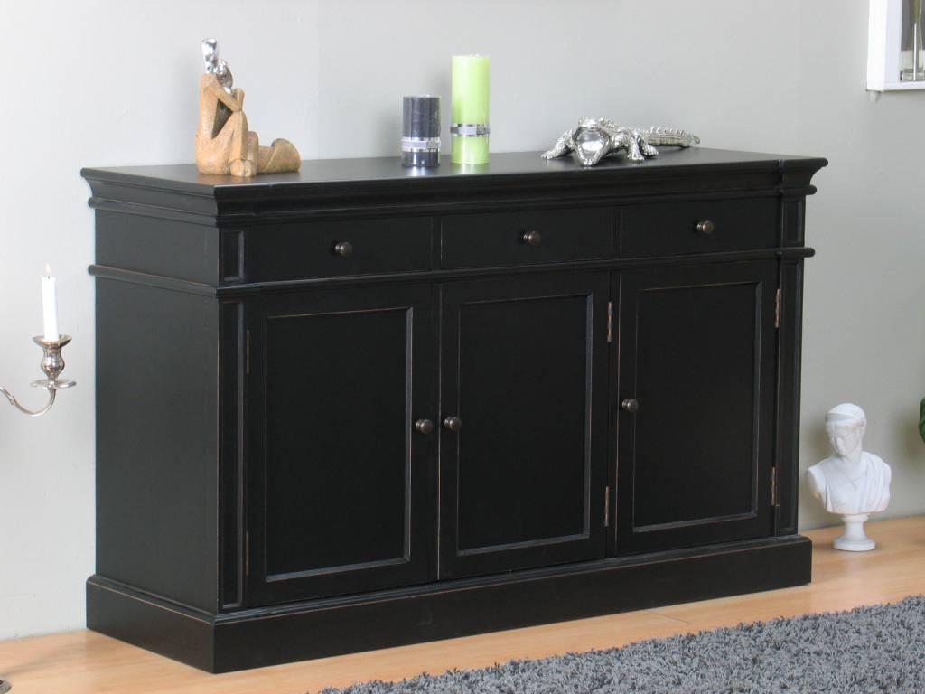 Mozart sideboard zwart antiek dressoir for Dressoir slaapkamer