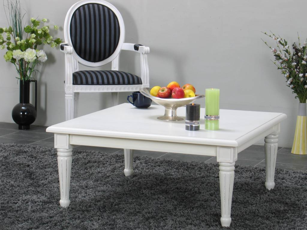 Vierkante salontafel wit Mozart   Meubeltrefpunt   Altijd thuis