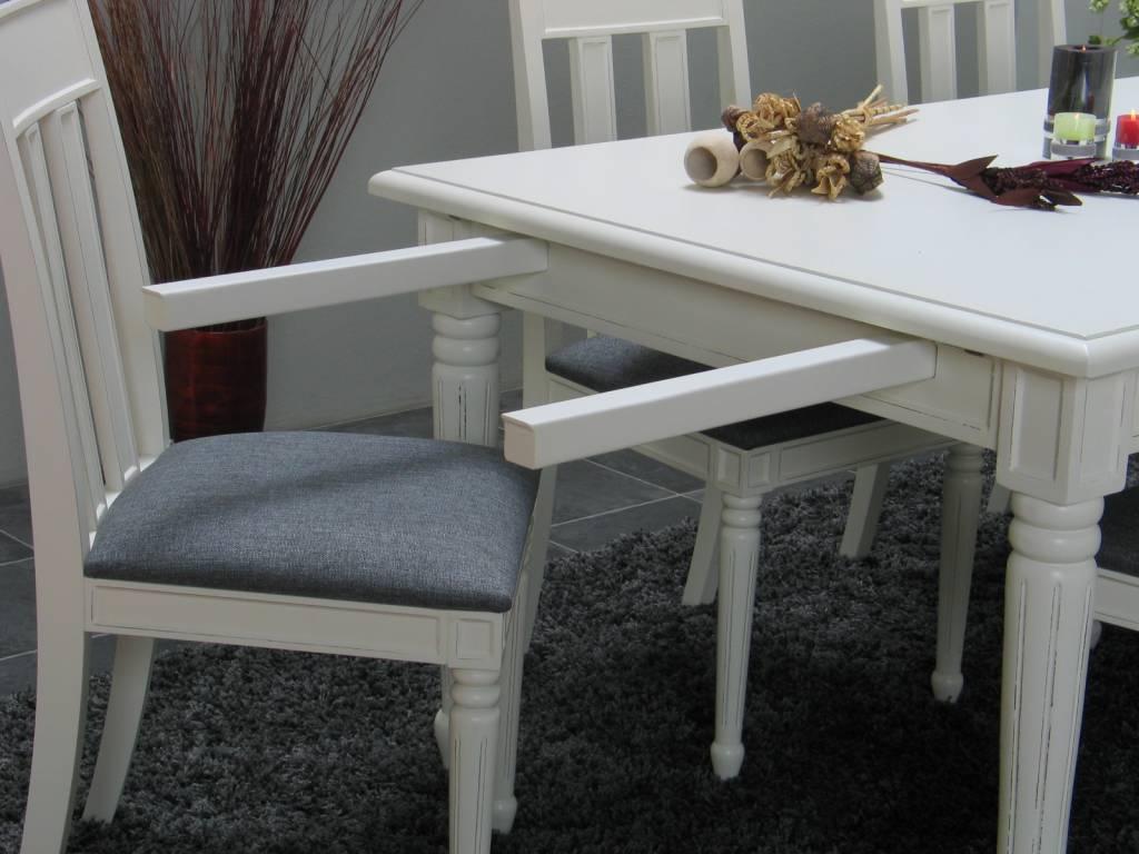 Eettafel stoelen landelijk eettafel met glazen blad stoel for Goedkope eetkamerstoelen met armleuning