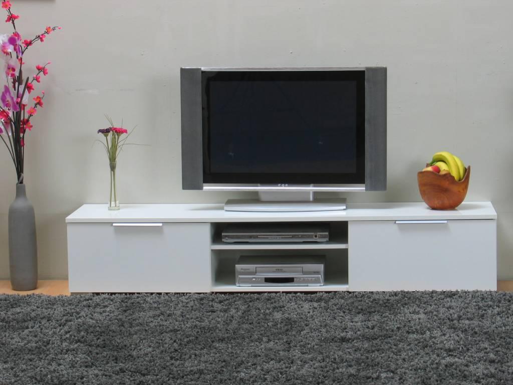 Woonkamer Kast Hoogglans Wit : Lage tv kast wit hoogglans bergamo ...