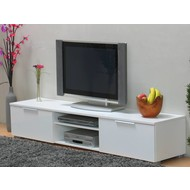 Lage TV kast wit hoogglans Bergamo