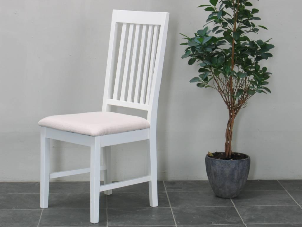 Eetkamer landelijk wit Venetie + eetkamerstoelen wit