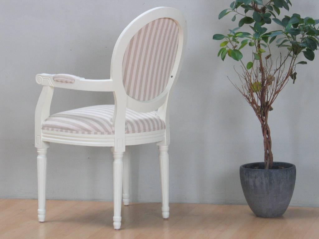 Witte barok stoel rococo met beige bekleding   meubeltrefpunt ...