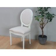 Crèmewitte barok stoel Rococo met beige bekleding