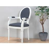 Crèmewitte barok stoel Rococo