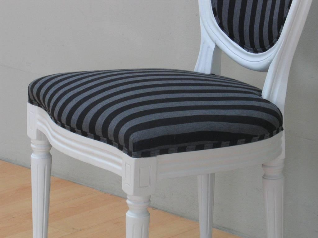 Home Landelijk witte eetkamer wit Venetie + zes barok stoelen Rococo