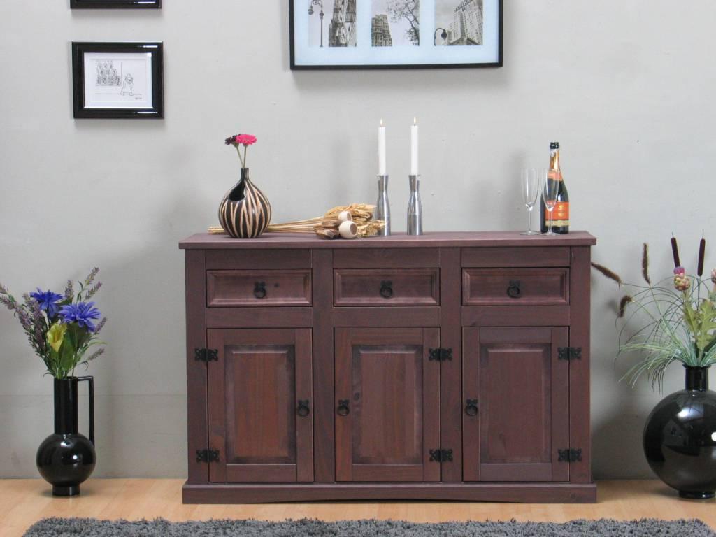 Dressoir bruin new mexico 132x85 cm for Dressoir slaapkamer