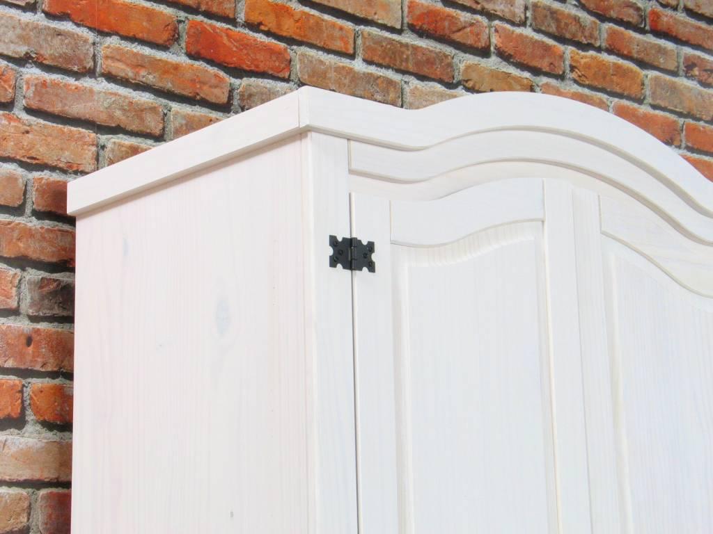 Slaapkamerkast Zwart : Witte slaapkamerkast New Mexico 100x193 ...