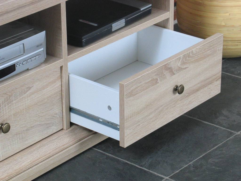 Landelijk eiken TV meubel Venetie 103x51x42 cm - Meubeltrefpunt ...
