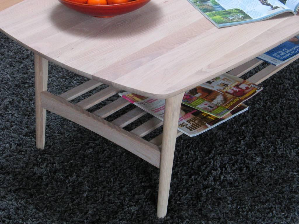 Wit eiken woonkamer : Wit eiken salontafel 130x70x44 cm Aarhus ...