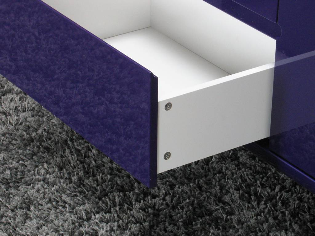 Design dressoir hoogglans paars 145x69x45 cm spacy ...