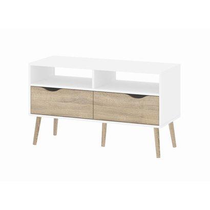 Tvilum TV-meubel met 2 lades en 2 open vakken wit eiken Napoli