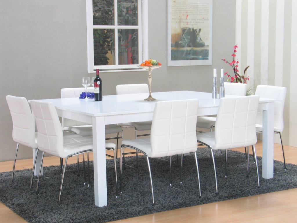 Eetkamer pastel idee - Keuken witte tafel ...