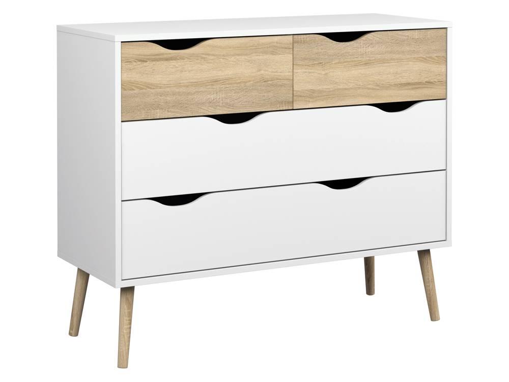 Napoli - wit en eiken / zwart en wit trendy meubels - woonkamer en ...