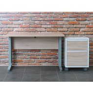 Tvilum Bureau Prima met rolcontainer, 120 cm breed