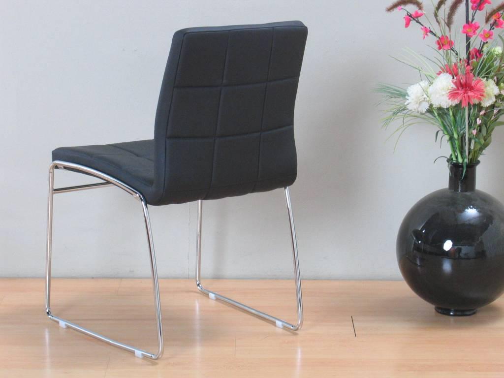 Eetkamer venetië wit met 6 zwarte stoelen   meubeltrefpunt ...