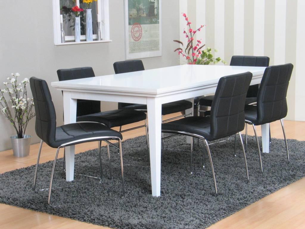 Witte Tafel Zwarte Stoelen.Eettafel Stoelen Ikea