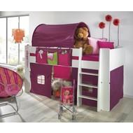 Bed gordijnset lila/roze bij halfhoogslaper Molly Kids