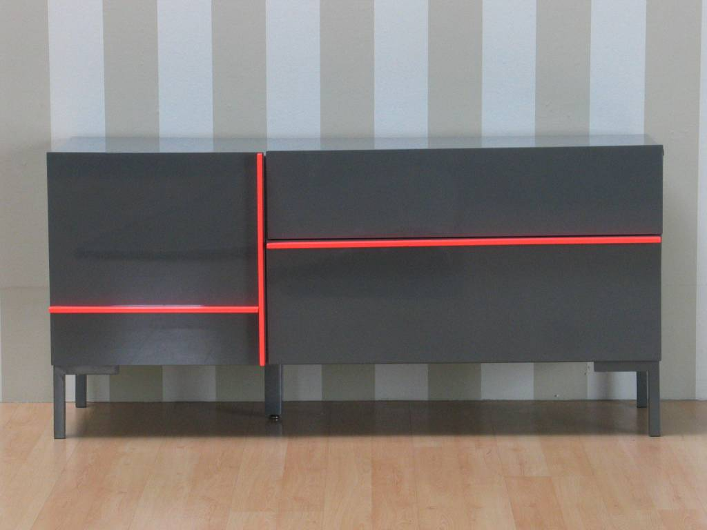 Dressoir grijs hoogglans juice   140 cm breed   modern design ...