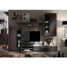 Trend - hoogglans meubelen bruin - woonkamer