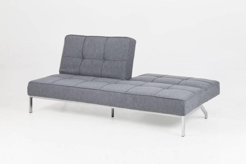 grijze slaapzetel per 198x89x95 cm