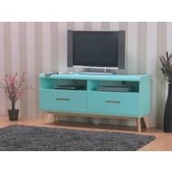 Jazz mintgroen TV-meubel met 2 lades en 2 vakken