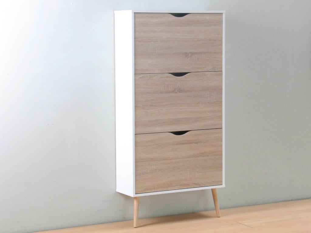 Napoli - eik / witte meubelen - moderne stijl - woonkamer en ...