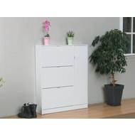 Schoenenkast wit hoogglans - 3 lades en 1 deur - Light