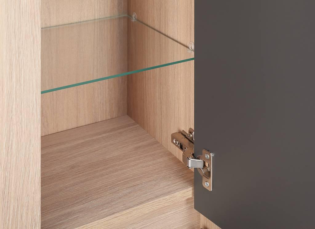 kolomkast hoge kast natascha grijs eiken meubeltrefpunt