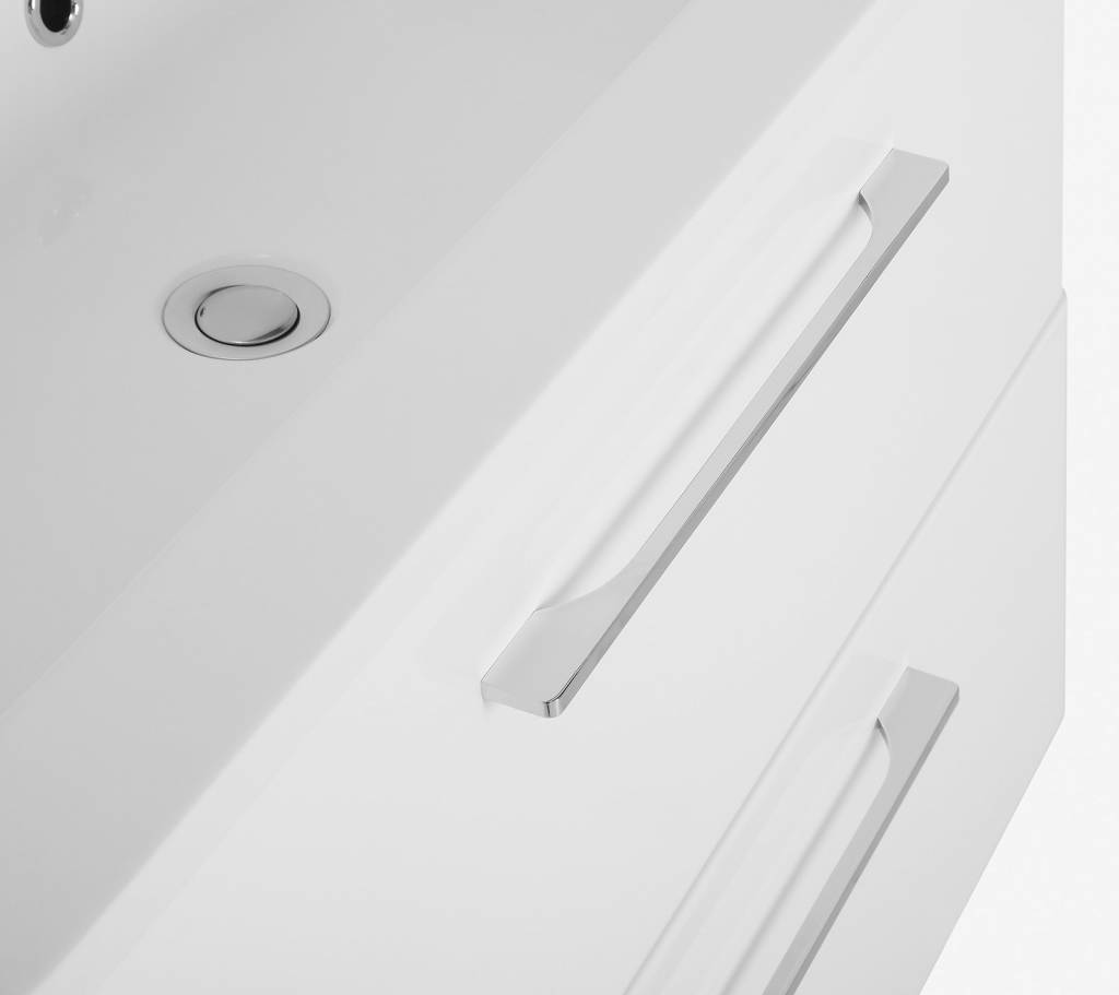 Grete wit hoogglans 60 cm lavabomeubel met lavabo   meubeltrefpunt ...