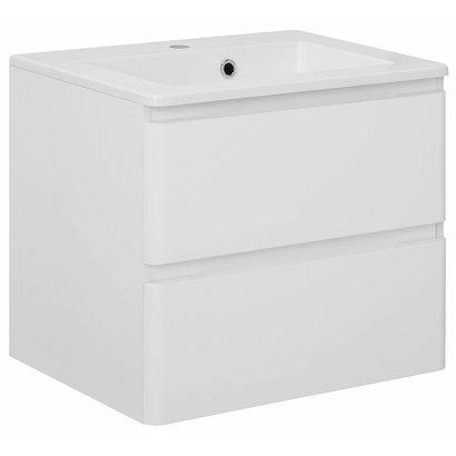 Home Maja 60 cm wastafelonderkast hoogglans wit inclusief wastafel