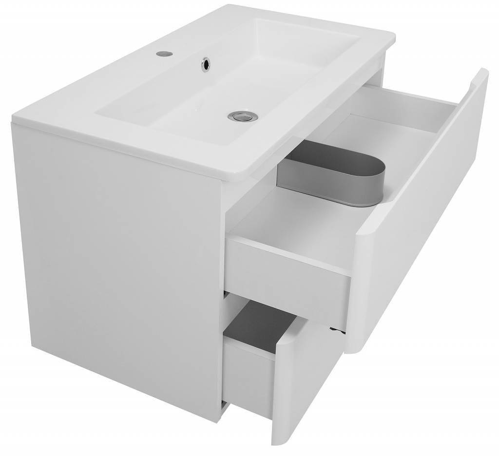 Maja Large wit hoogglans badkamermeubel 80 cm - Meubeltrefpunt ...