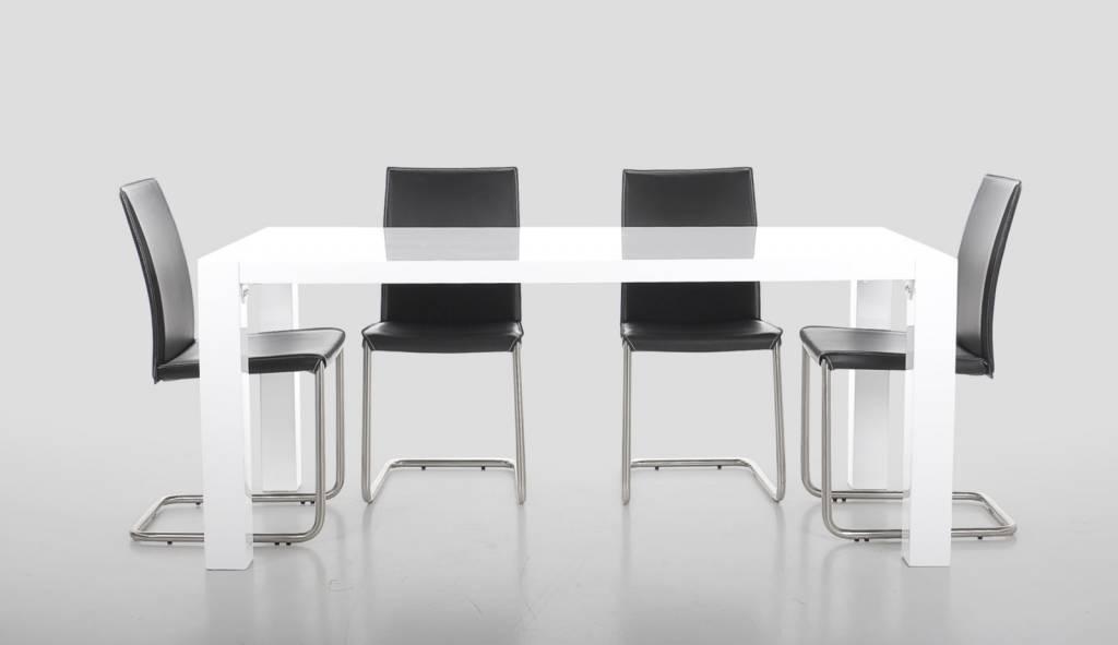 Eetkamer Wit Hoogglans : Eettafel 180 x 90 troy wit hoogglans