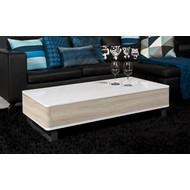 FYN Pisa salontafel wit met houtkleurige zijpanelen