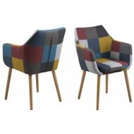 FYN Noortje - zetel - met armleuning - patchwork meerkleurig