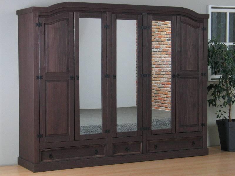 Slaapkamer Dressoir Met Spiegel : ... deurs kledingkast bruin met ...
